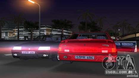 VAZ 21099 DeLuxe para GTA Vice City vista traseira esquerda