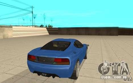 Turismo de GTA 4 para GTA San Andreas traseira esquerda vista