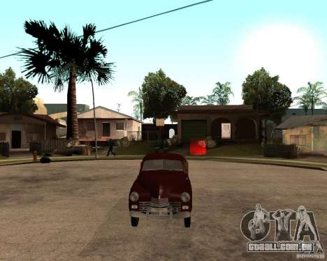 Gaz M-20 Pobeda PickUp para GTA San Andreas vista direita