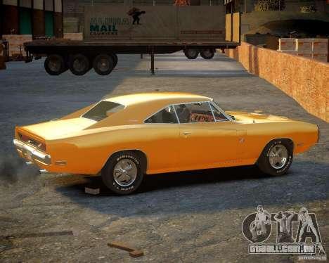 Dodge Charger Magnum 1970 para GTA 4 traseira esquerda vista