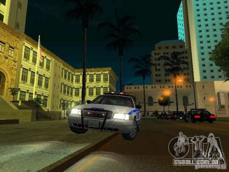 Ford Crown Victoria 2009 New York Police para GTA San Andreas vista superior