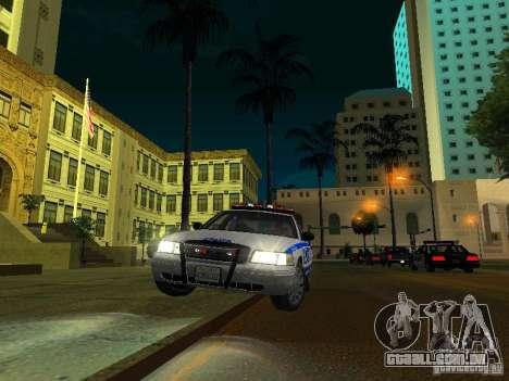 Ford Crown Victoria 2009 New York Police para GTA San Andreas vista superior