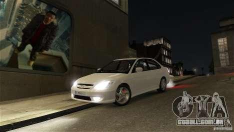 Honda Civic V-Tec para GTA 4 vista de volta