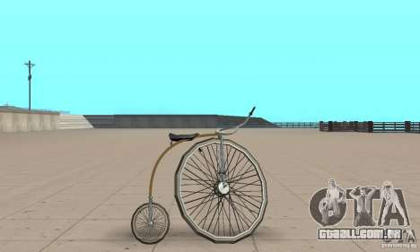 Penny-Farthing Ordinary Bicycle para GTA San Andreas traseira esquerda vista