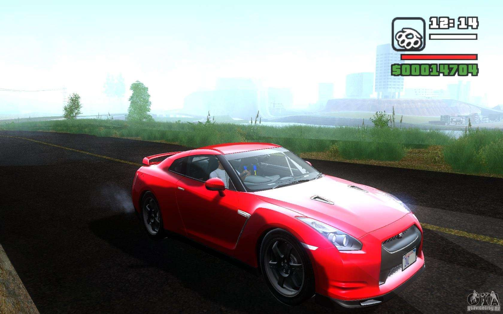 Nissan GTR R35 Spec V 2010 Para GTA San Andreas .