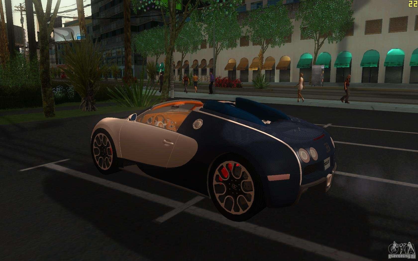 bugatti veyron 16 4 grand sport sang bleu para gta san andreas. Black Bedroom Furniture Sets. Home Design Ideas