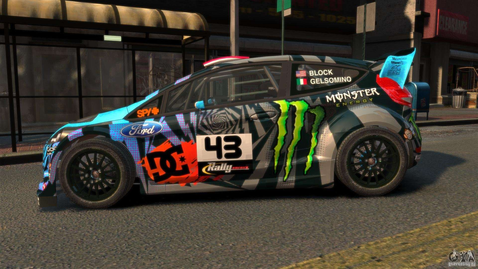 ford fiesta rallycross ken block hoonigan 2013 para gta 4. Black Bedroom Furniture Sets. Home Design Ideas