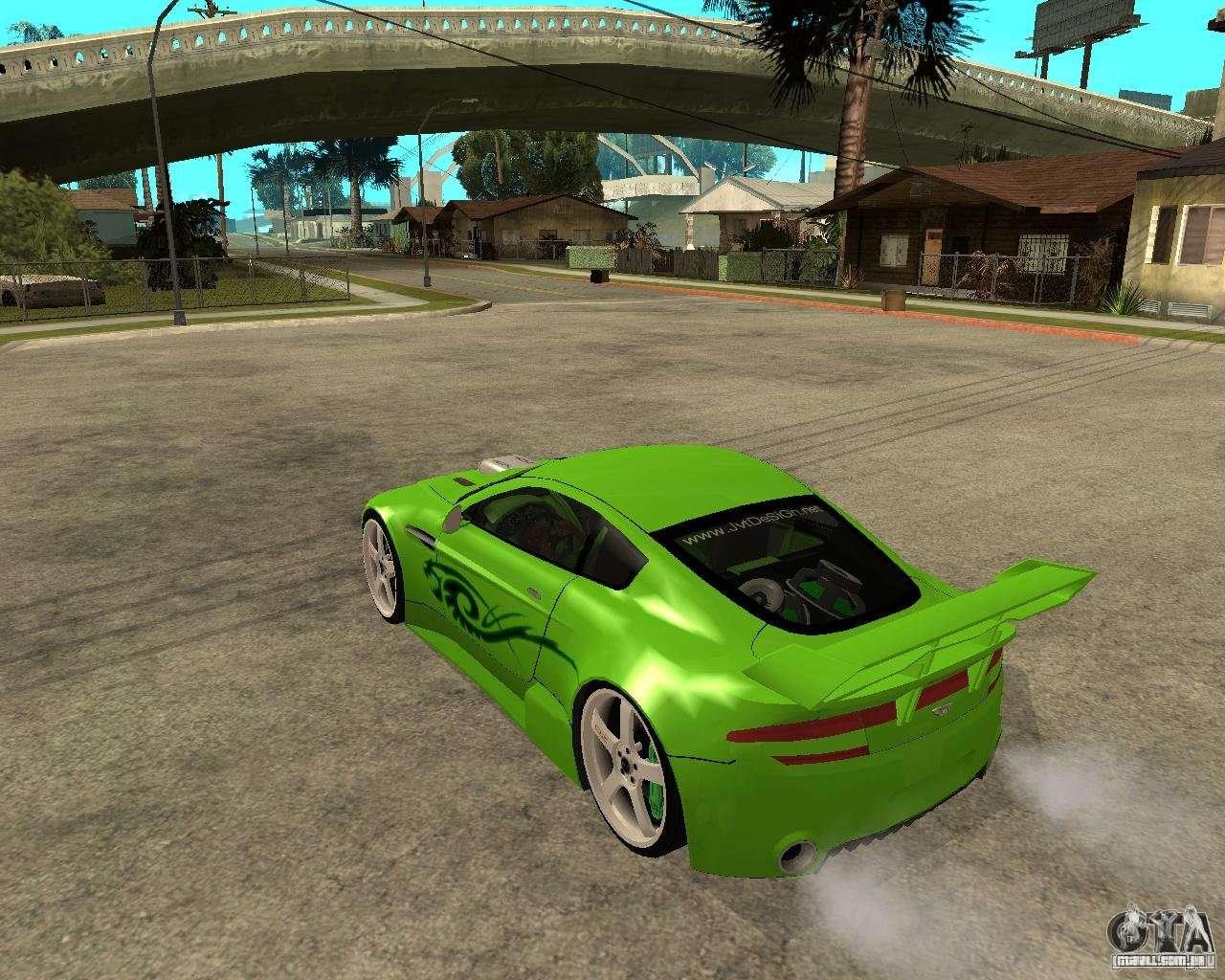 Aston Martin Vantage V8 Green Shark Tuning Para Gta San Andreas