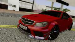 Mercedes Benz C63 AMG Black Series 2012 para GTA San Andreas