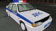VAZ 2115 polícia DPS para GTA San Andreas