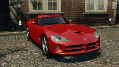 Dodge Viper SRT-10 Coupé Borgonha para GTA 4