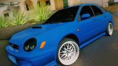 Subaru Impreza WRX STI turquesa para GTA San Andreas
