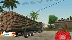 O portador de madeira reboque KRONE para GTA San Andreas