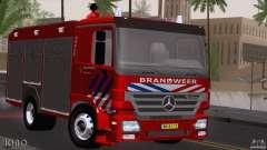 Mercedes-Benz Actros Fire Truck para GTA San Andreas