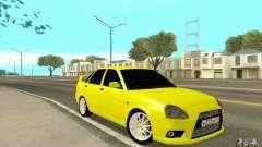 Lada Priora amarelo para GTA San Andreas
