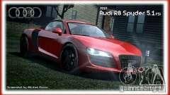 Audi R8 Spyder 2010 v 2.0 para GTA 4