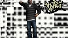 PED em jeans e jaqueta