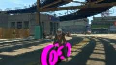 Motocicleta do trono (néon rosa)