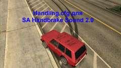 Handling. cfg para SA Handbrake som 2.0 para GTA San Andreas