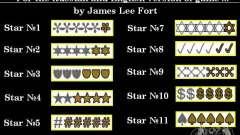 Novas estrelas para o capuz # 12 para GTA San Andreas