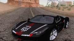 Ferrari F458 preto para GTA San Andreas