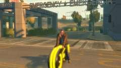 Motocicleta do trono (amarelo neon)