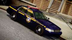 Ford Crown Victoria New York State Patrol [ELS] para GTA 4