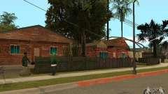 Novas texturas de casas na rua Grove