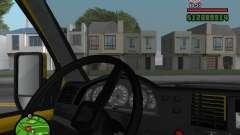 Painel de controle ativo para GTA San Andreas