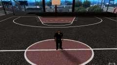 A nova quadra de basquete