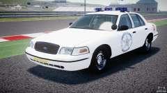 Ford Crown Victoria US Marshal [ELS] para GTA 4