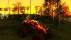 Monster Truck Máximo de Destruição бордовый para GTA San Andreas