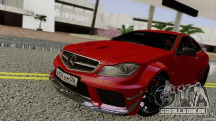 Mercedes Benz C63 AMG Black Series 2012 para GTA San Andreas