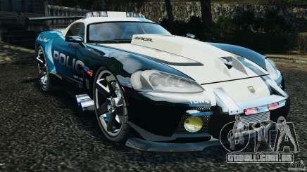Dodge Viper SRT-10 ACR ELITE POLICE [ELS] para GTA 4