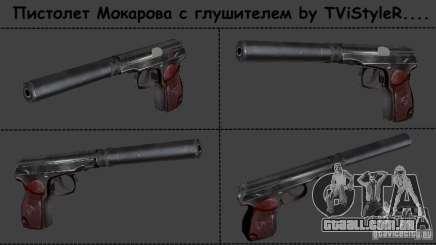 Makarov pistola com silenciador para GTA San Andreas