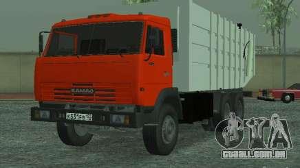 Caminhão de lixo 53215 KAMAZ para GTA San Andreas
