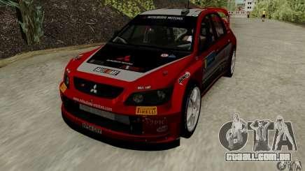 Mitsubishi Lancer Evolution VIII WRC para GTA San Andreas