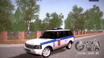Range Rover Supercharged 2008 polícia departamento para GTA San Andreas