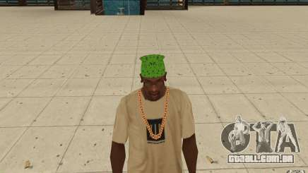 Bandana verde maryshuana para GTA San Andreas