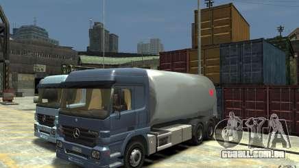 Mercedes Benz Actros Gas Tanker para GTA 4