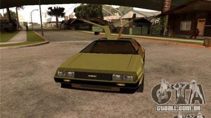 Golden DeLorean DMC-12 para GTA San Andreas