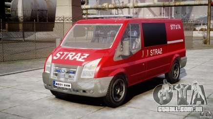 Ford Transit Polish Firetruck [ELS] para GTA 4
