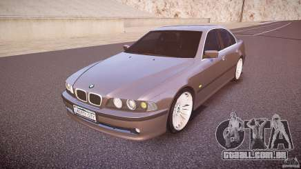 BMW 530I E39 stock white wheels para GTA 4