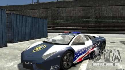 Lamborghini Reventon Police Stinger Version para GTA 4