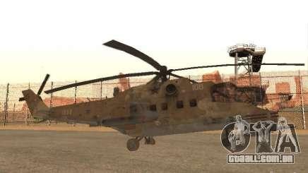 Mi-24p Desert Camo para GTA San Andreas