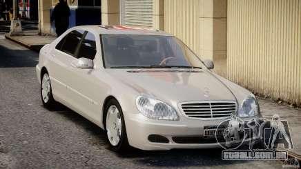 A Mercedes-Benz W220 белый para GTA 4
