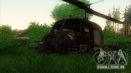 Helicóptero Huey da chamada do dever ops preto para GTA San Andreas