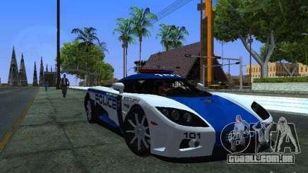 Koenigsegg CCX Police para GTA San Andreas