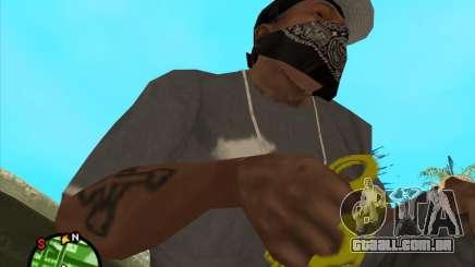 Dourado brass knuckles para GTA San Andreas