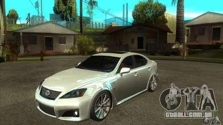 Lexus IS F 2009 para GTA San Andreas